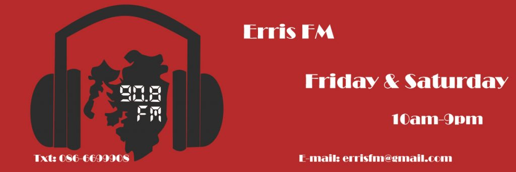 Erris FM is a station which has operated under a temporary licence tp broadcast at weekends only to the area of Belmullet (and surrounds) in Co Mayo.