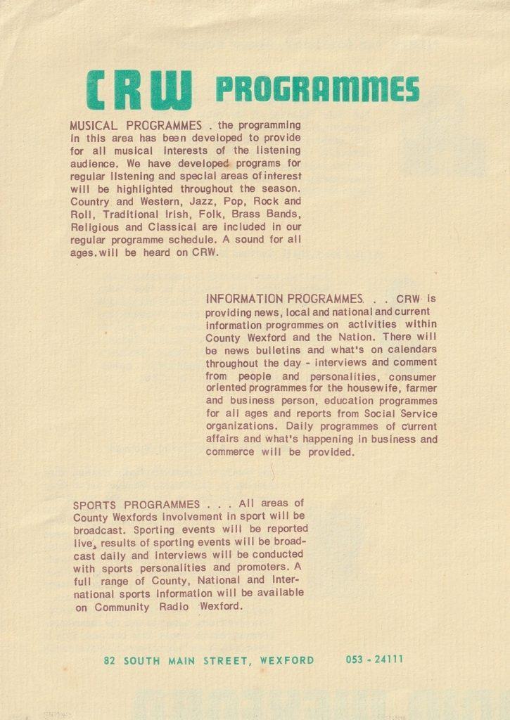CRW Brochure