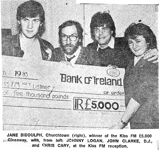 On March 29th, Jane Biddulph from Churchtown finds herself £5,000 better off after Kiss FM played the three songs, which were:  Lady, You Bring Me Up - The Commodores;  Longer - Dan Fogelburg;  & Abracadabra - Steve Miller Band.