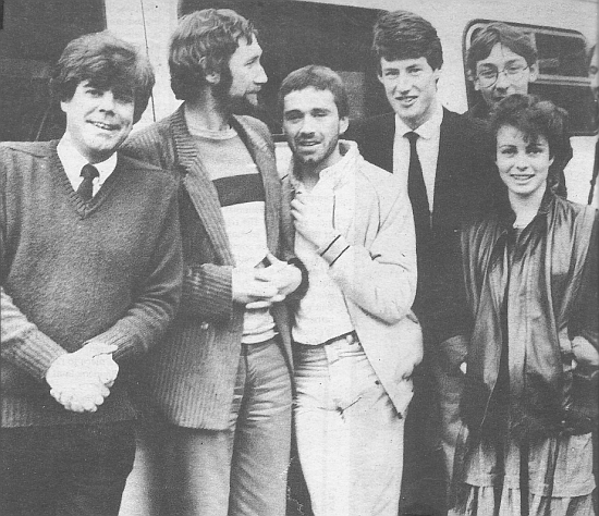Operation Novacare '82 Photoshoot - Chris Cary, Declan Meehan, Tom Hardy, Dave Harvey, Colm Hayes, Sybil Fennell