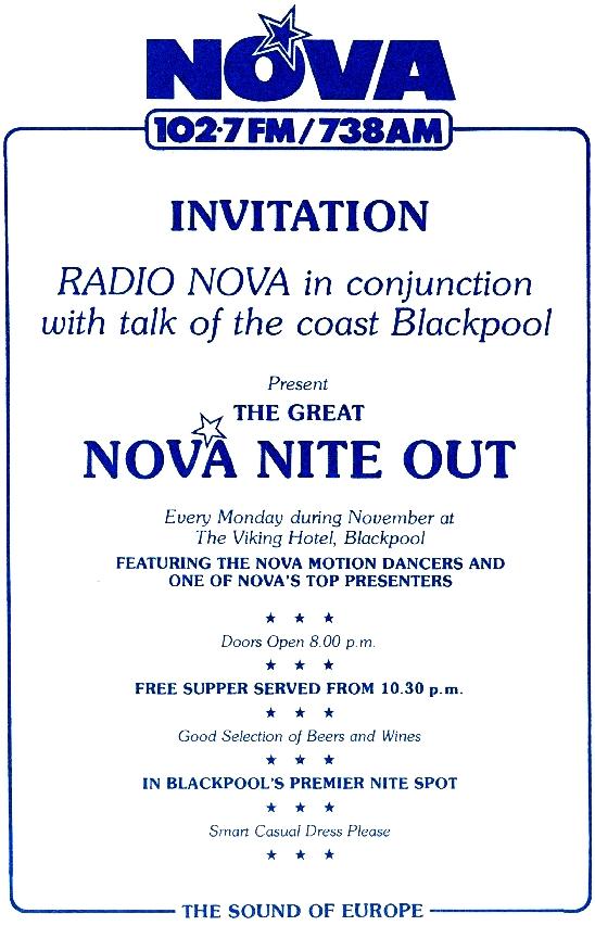 Radio Nova in Blackpool
