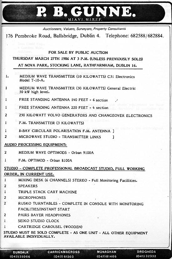 Radio Nova auction
