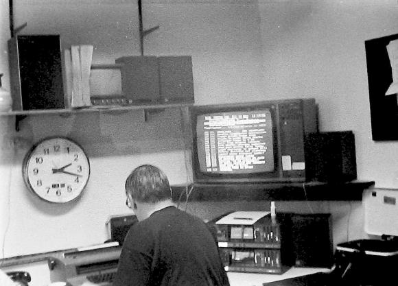 Bob Gallico in the Energy 103 Newsroom