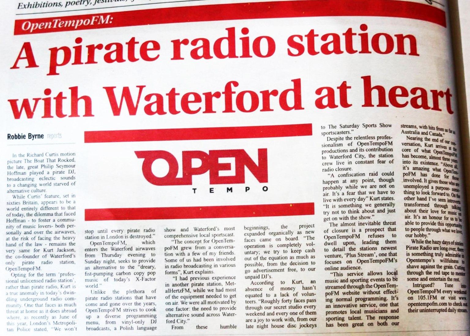Open Tempo FM in Munster Express