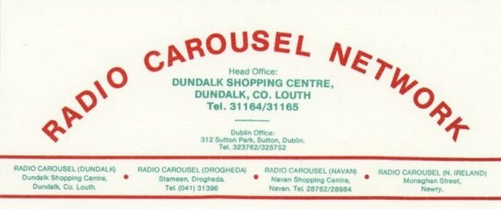 Radio Carousel Drogheda was a satellite sister station of Radio Carousel in Dundalk, the first of its kind. It opened in January 1981 on 215m and was located at Stameen Court, next to the Boyne Valley Hotel in Drogheda. It was designed as a booster station to get Carousel's signal into Dublin. Despite this, some local programming was aired from the station's purpose-built studio but over the course of the station's history this can best be described as erratic. The studios were also regularly used for live link ups between Drogheda and Dundalk. The transmitter was eventually switched off late in 1982.