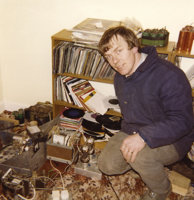From the very early days of Radio Rainbow International, the shortwave station which broadcast from the east coast, this is a recording of Heady Eddie (pictured with the station transmitter) from just before midday on July 28th 1985