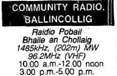 From the Cork Examiner TV and Radio listings for September 22nd 1983