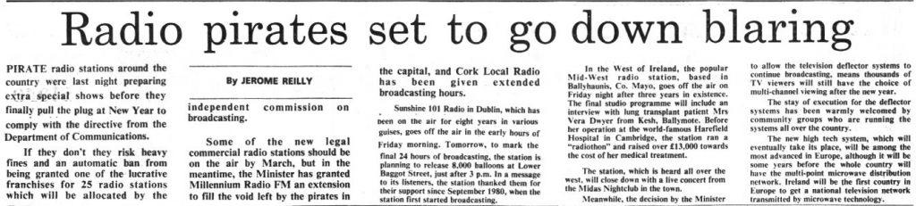 Radio pirates set to go down blaring