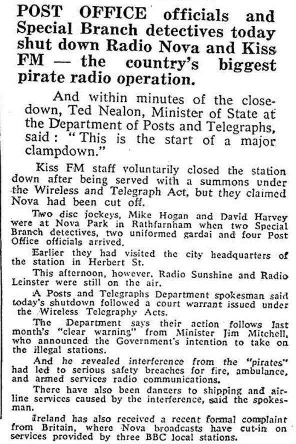 1983 raid on Radio Nova and Kiss FM
