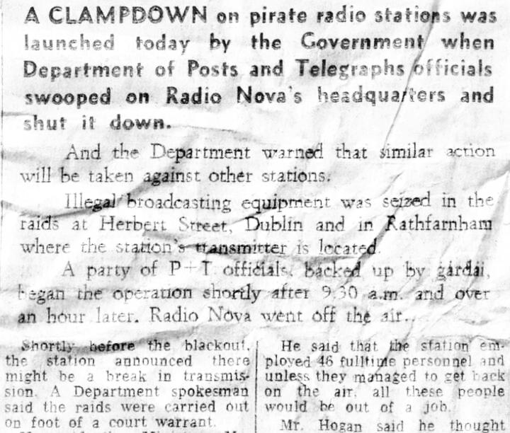 Radio Nova raid in May 1983