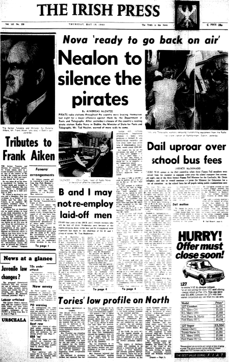 Radio Nova ready to go back on air - Nealon to silence the pirates