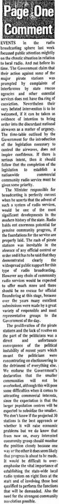 Connaught Tribune - pirate 1983 raids