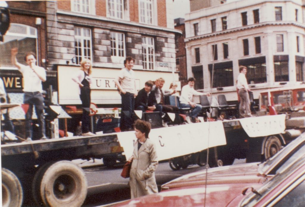 ABC Radio on the protest march May 27th 1983