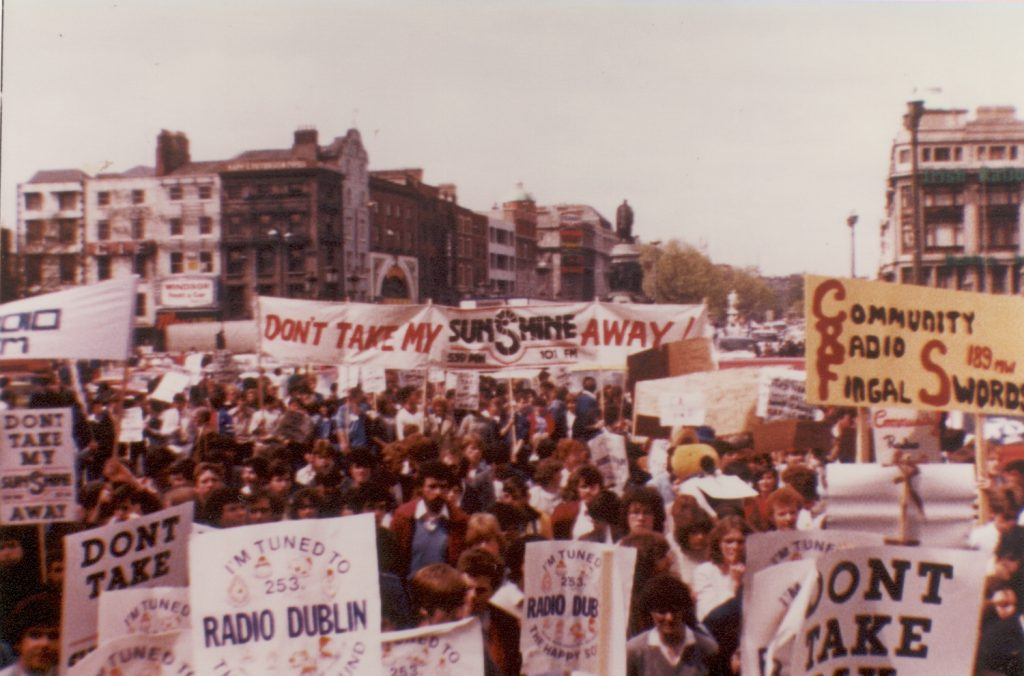 May 27th 1983 pirate radio march in Dublin