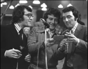 Brendan Balfe, Larry Gogan and Mike Murphy (1974)
