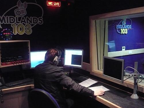 News journalist Bernard O'Farrell delivering an update