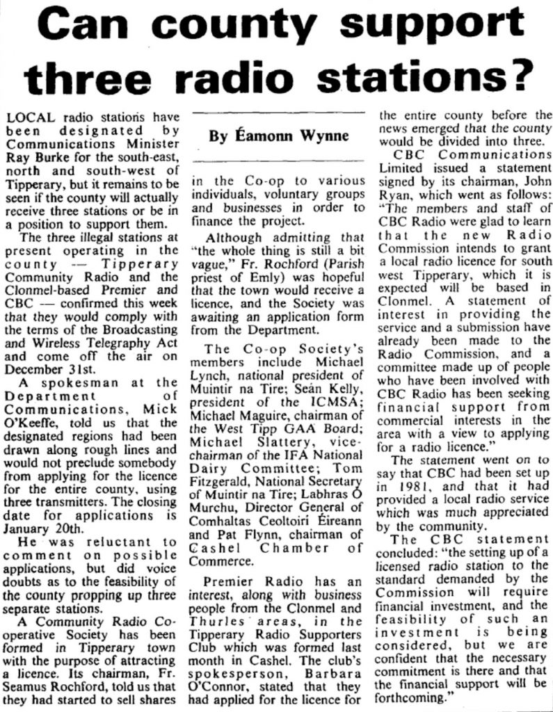 Can county support three radio stations?