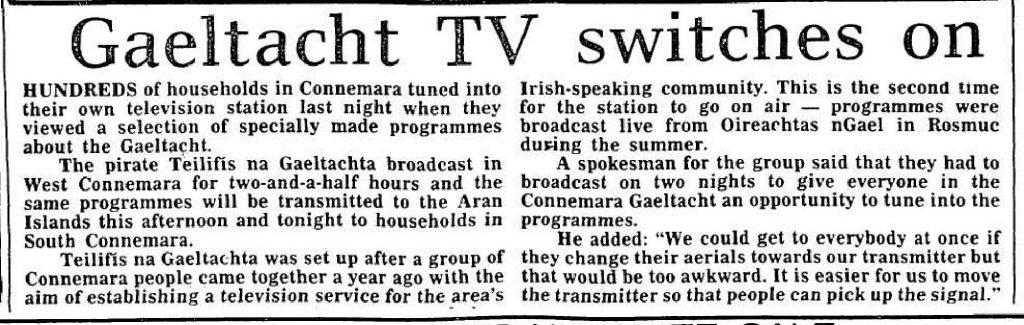 Gaeltacht TV switches on