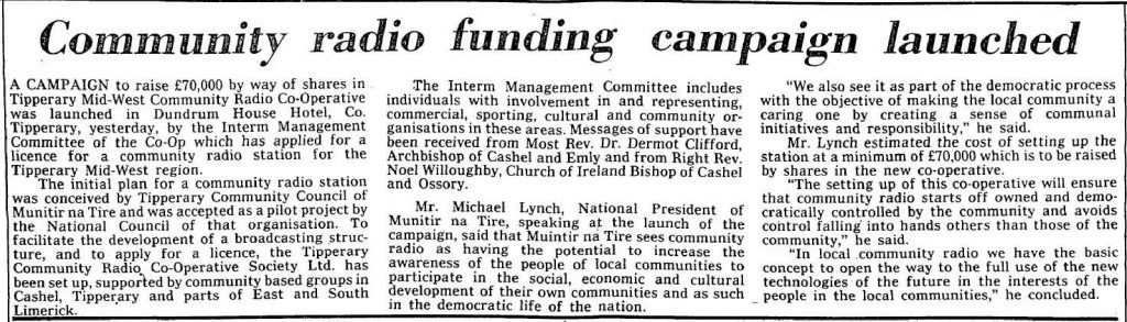 Community radio funding campaign launched