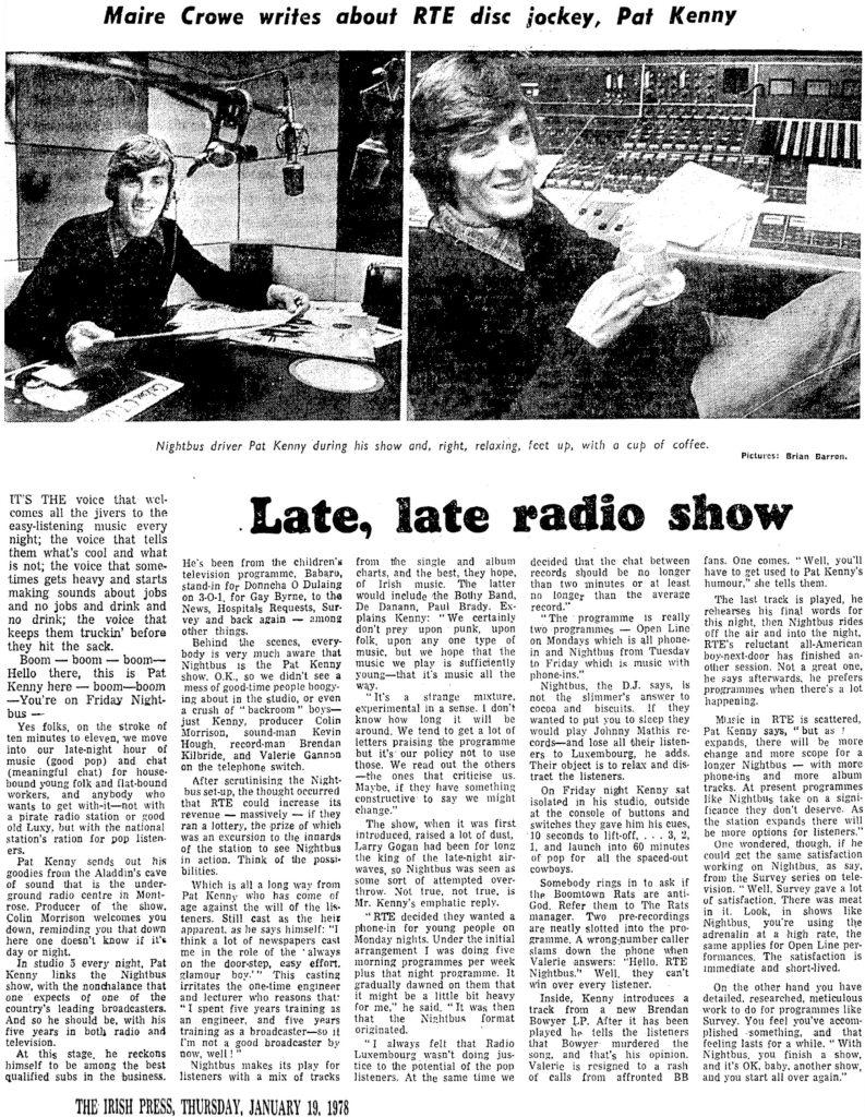 Late, late radio show