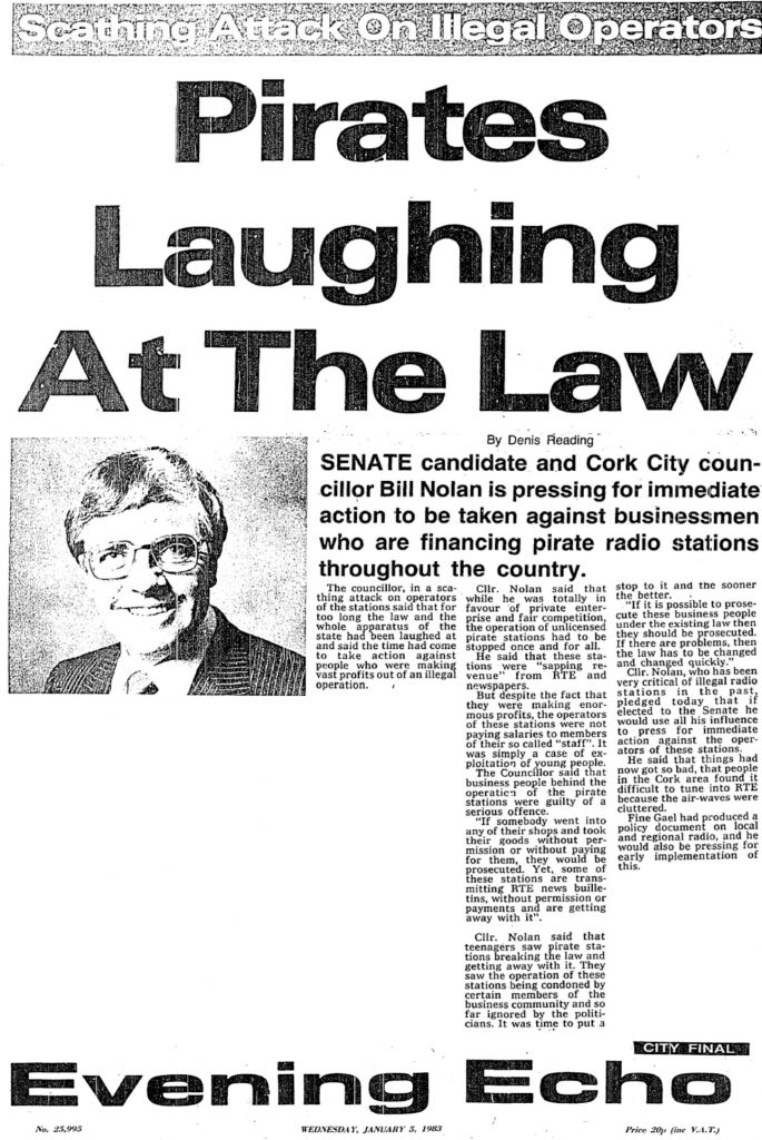 Pirates Laughing at the Law was a headline from The Evening Echo from January 5th 1983