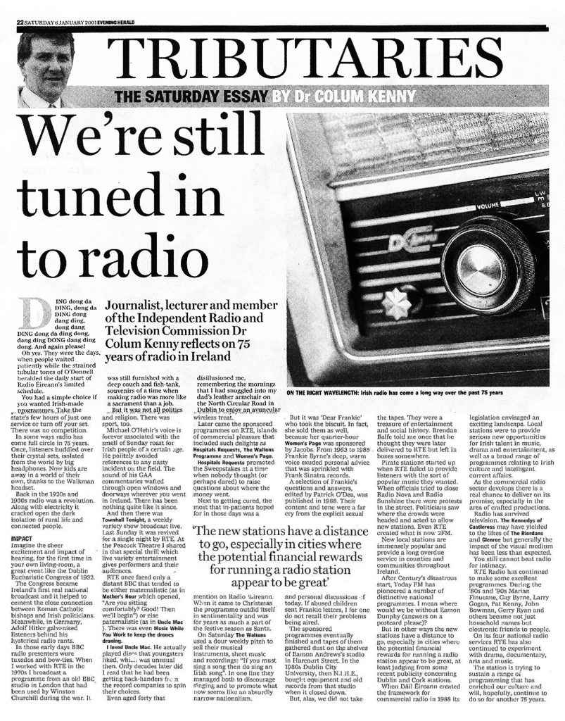 Evening Herald We're Still Tuned In To Radio