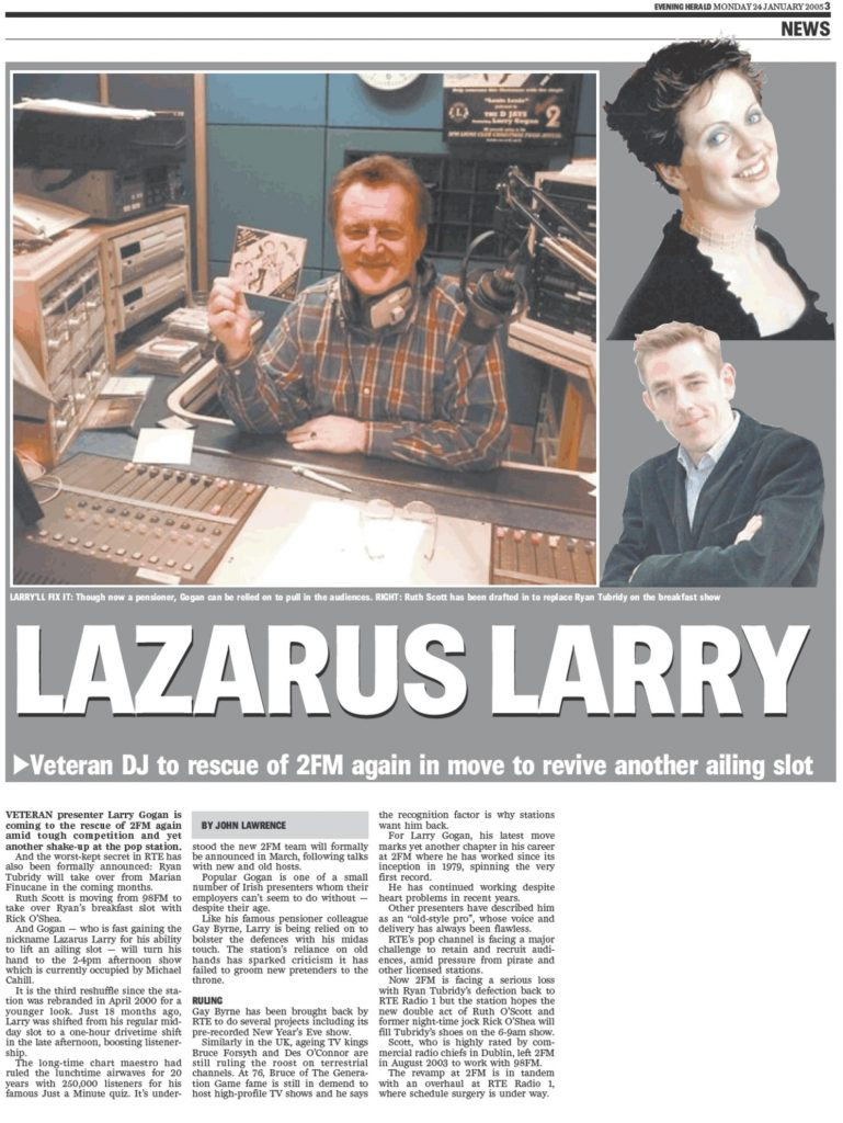 Evening Herald Lazarus Larry
