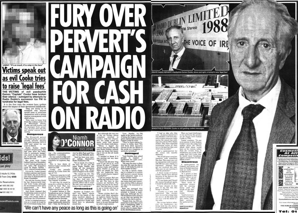 Sunday World Fury Over Pervert's Campaign for Cash