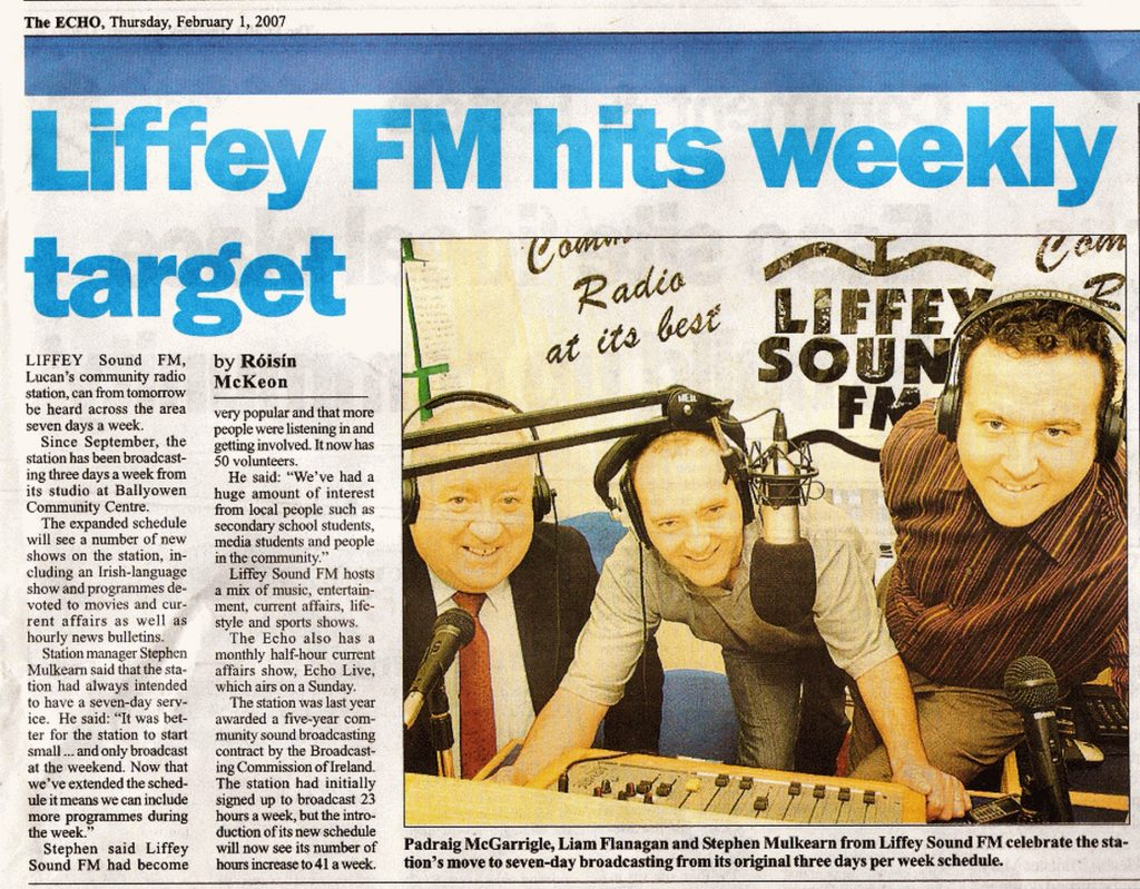 The Echo Liffey FM hits weekly target