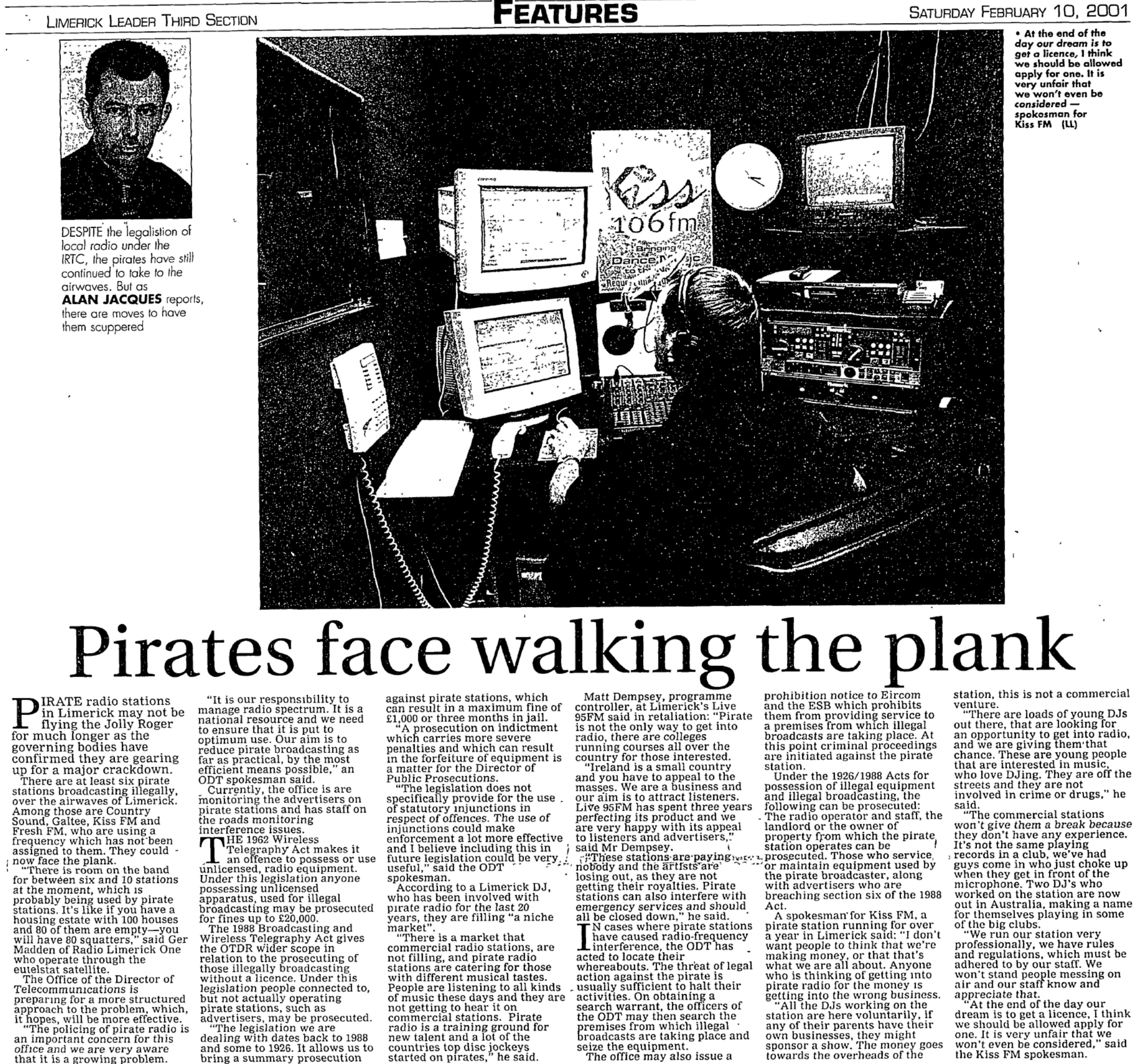 Limerick Leader - Pirates face walking the plank