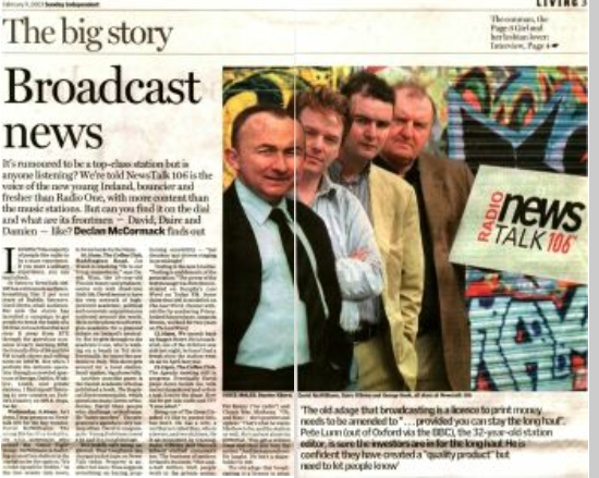 Sunday Independent - Broadcast news