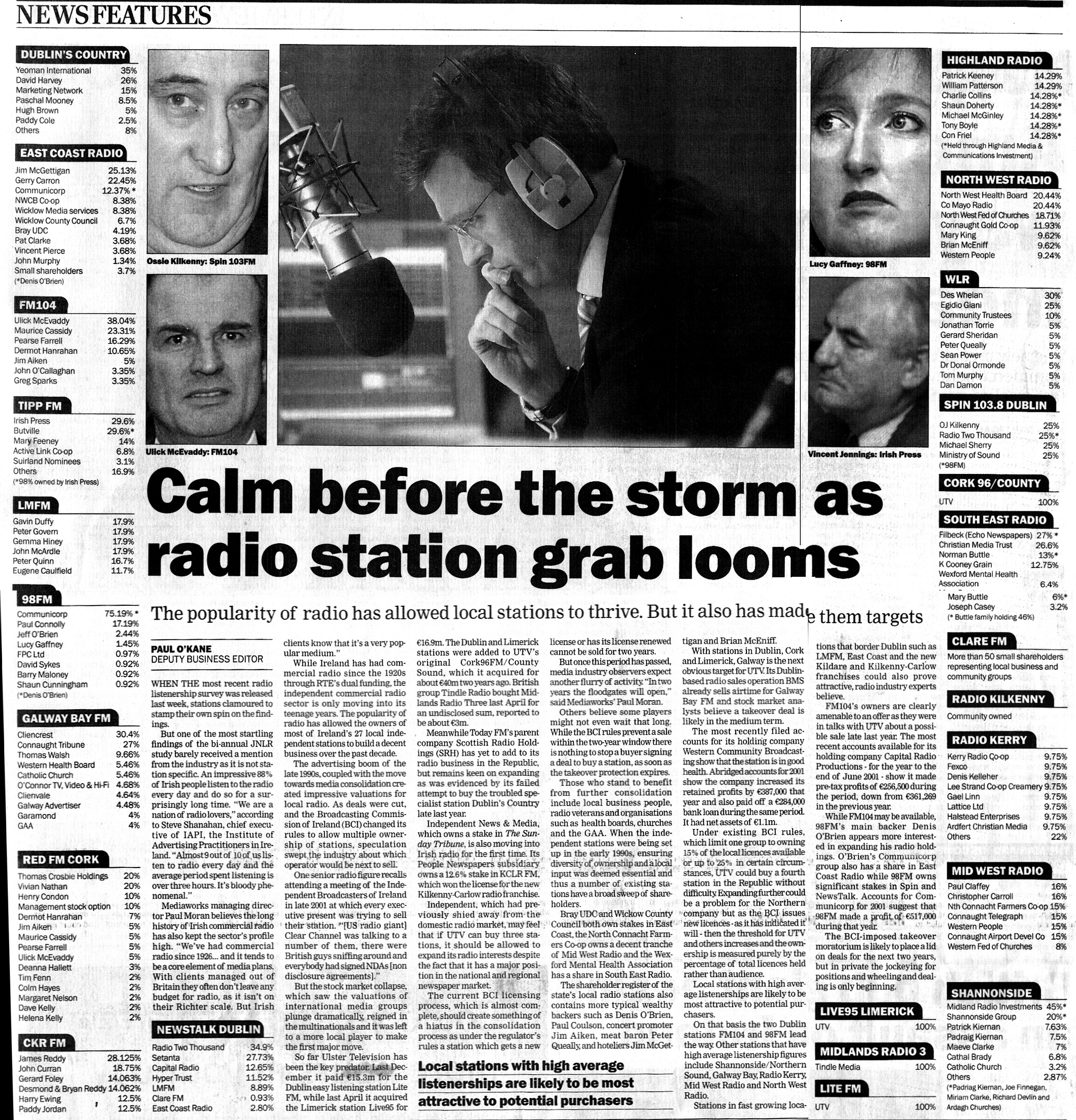 Sunday Tribune - Calm before the storm as radio station grab looms