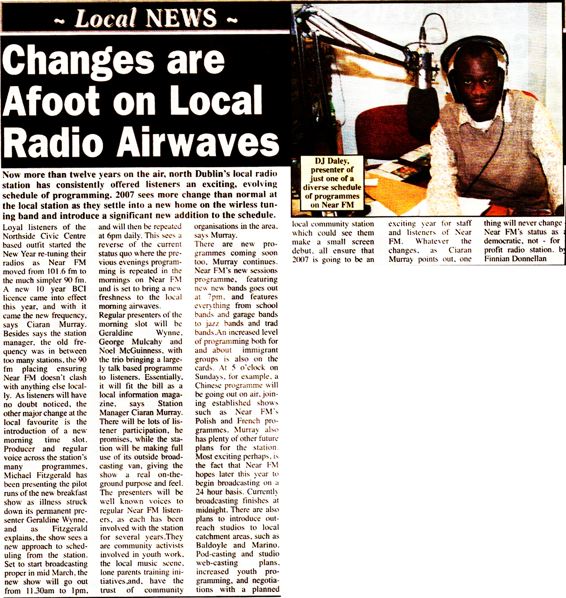 Citywide News - Changes are afoot on local radio airwaves