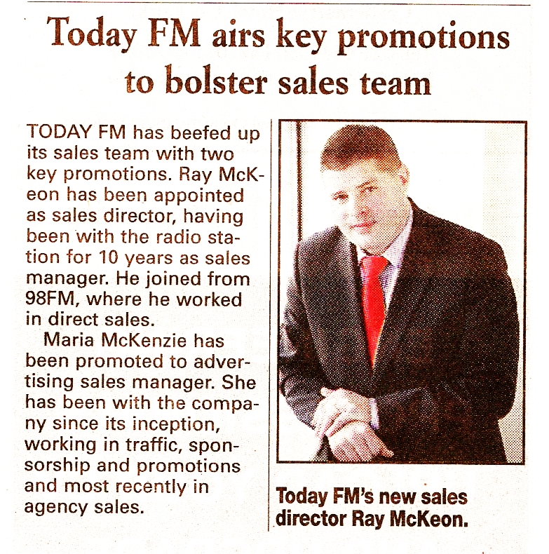 Today FM airs key promotions to bolster sales team