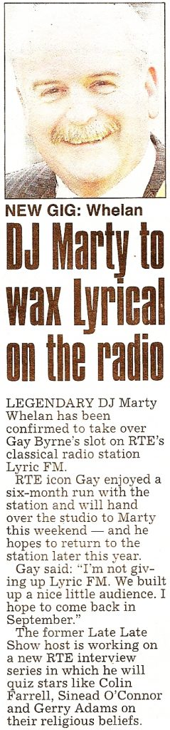 The Star - DJ Marty to wax Lyrical on the radio