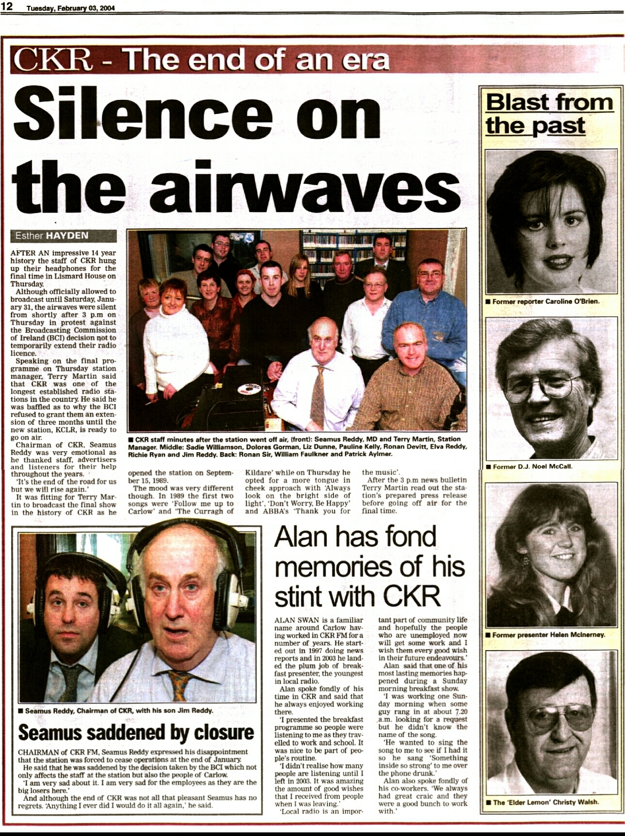 CKR - The end of an era (Carlow People)