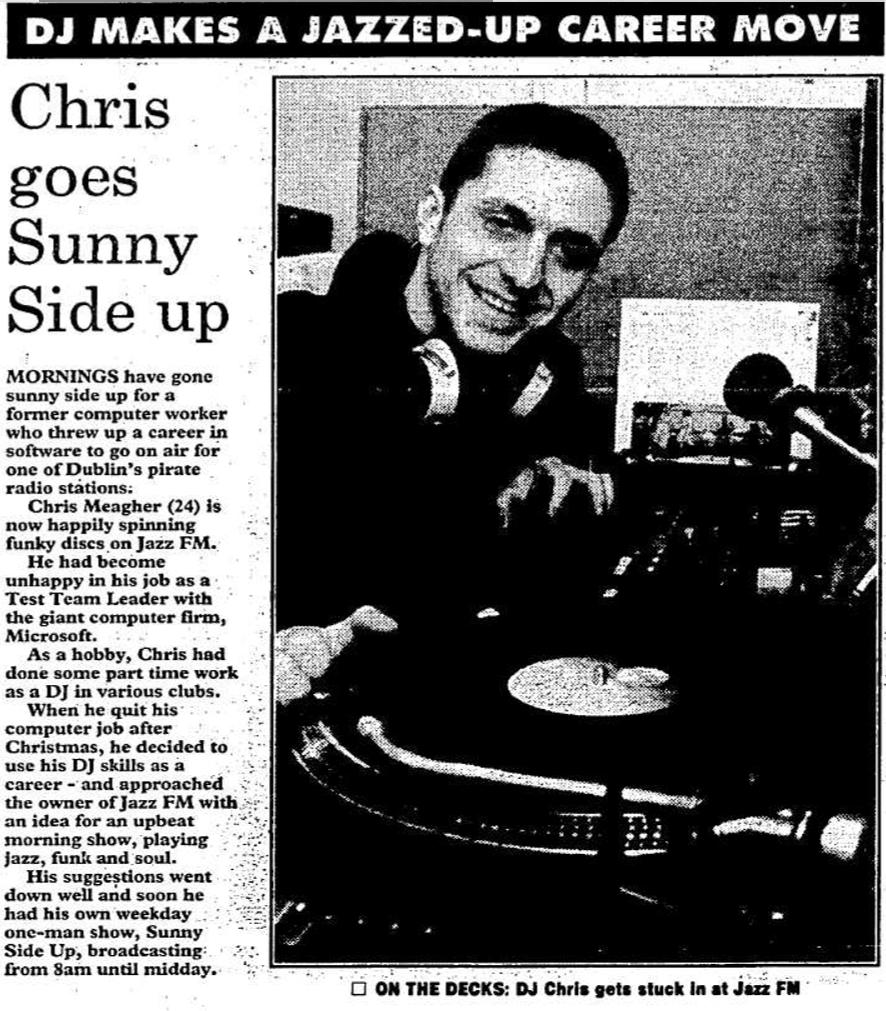 Evening Herald - DJ makes a Jazzed up career move