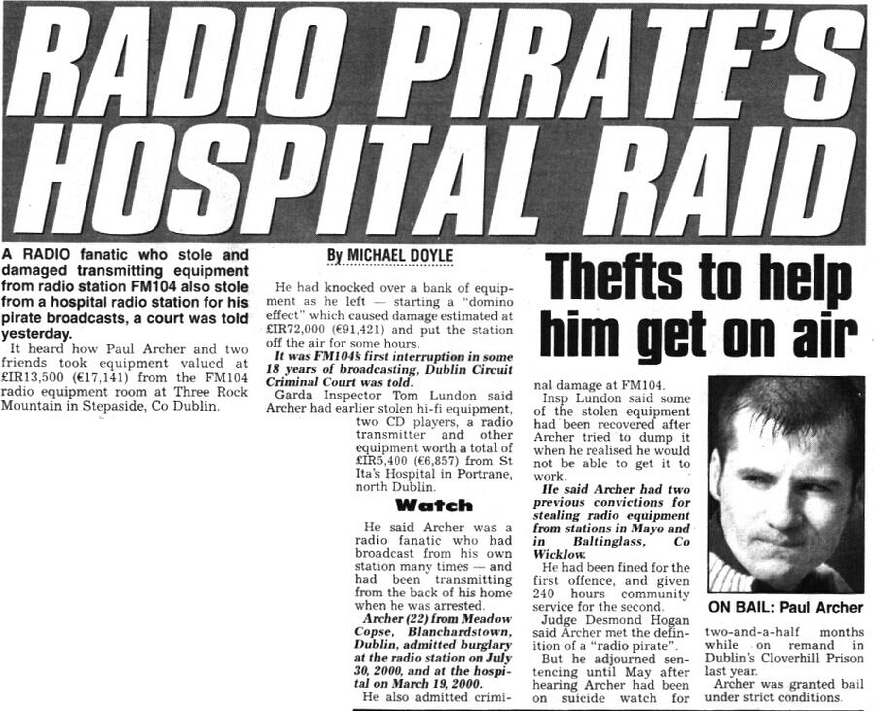 The Star - Radio pirate's hospital raid