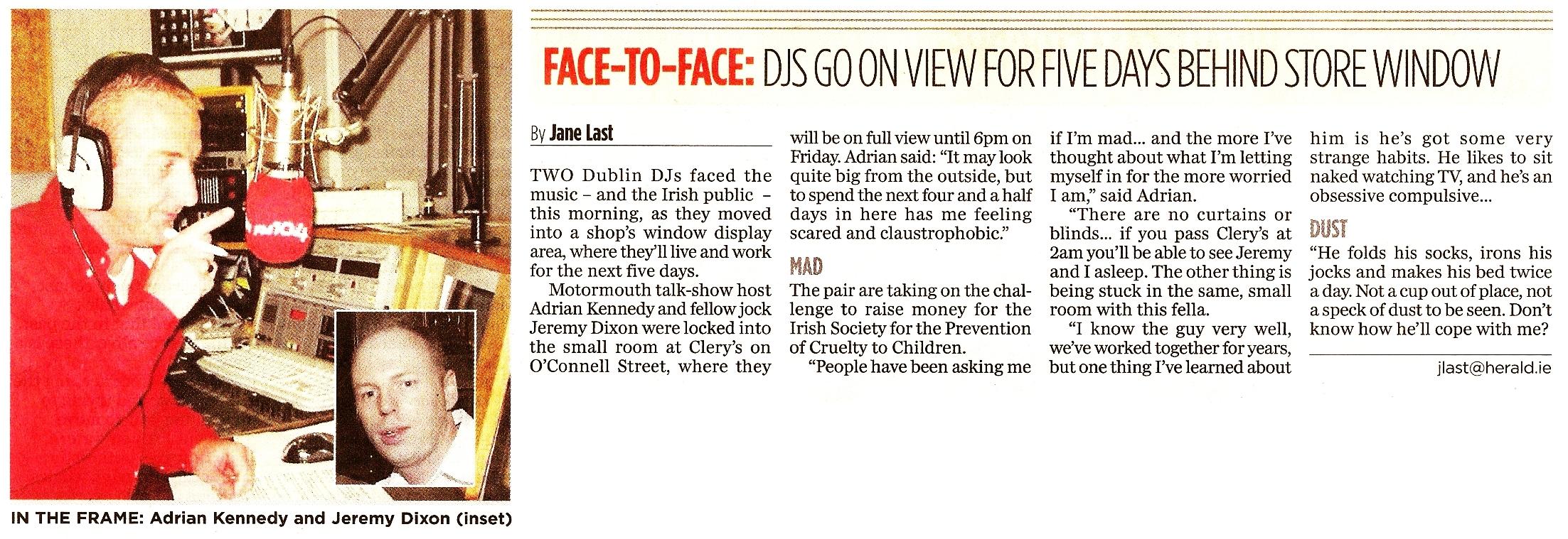 Evening Herald - Face to face