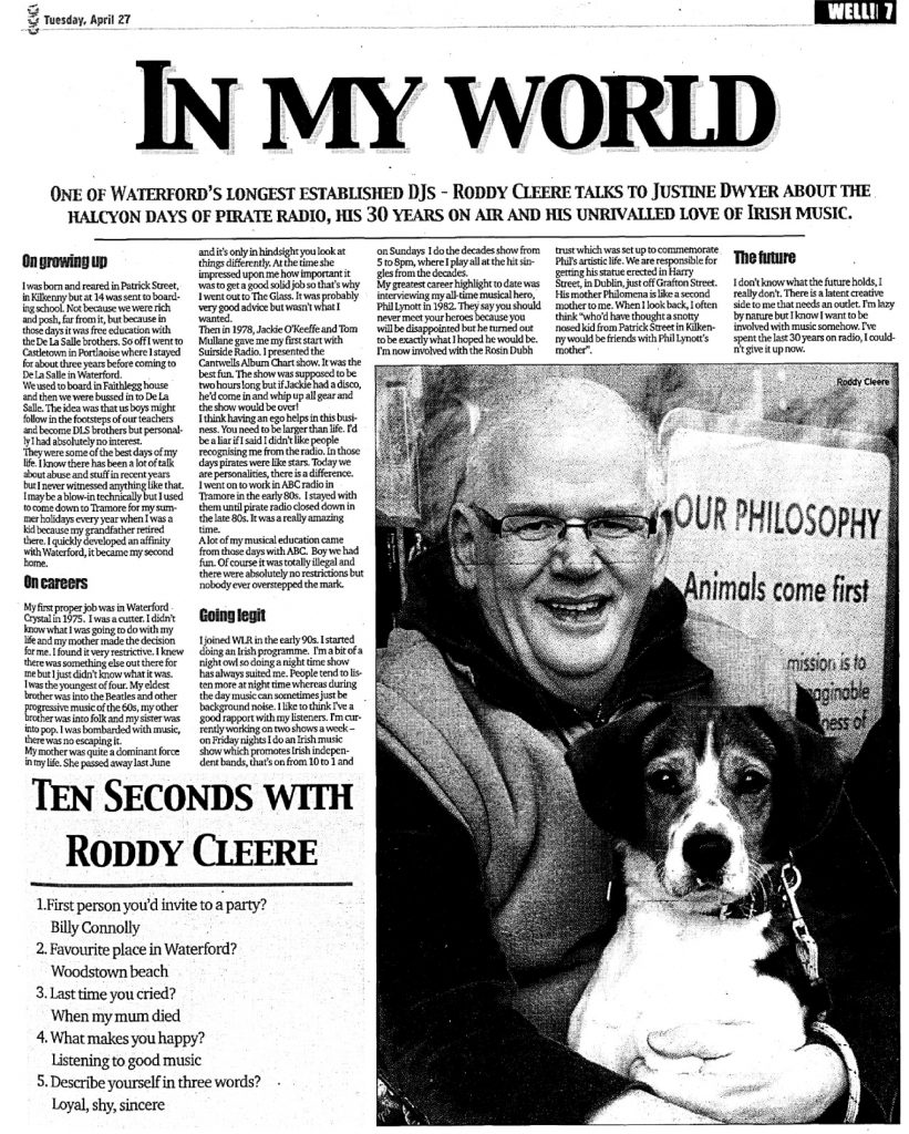 Waterford News & Star In My World
