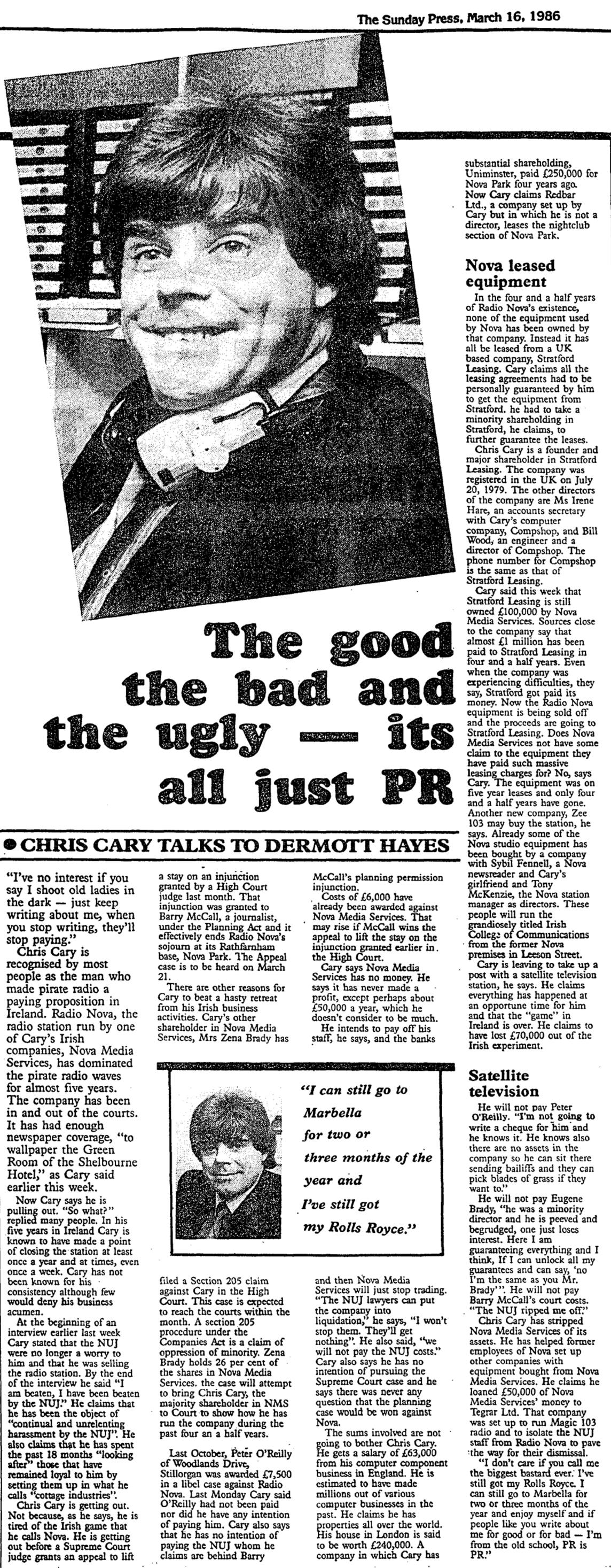 Chris Cary interview