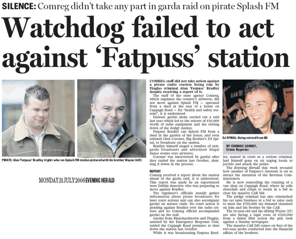 Evening Herald - Watchdog failed to act against 'Fatpuss' station
