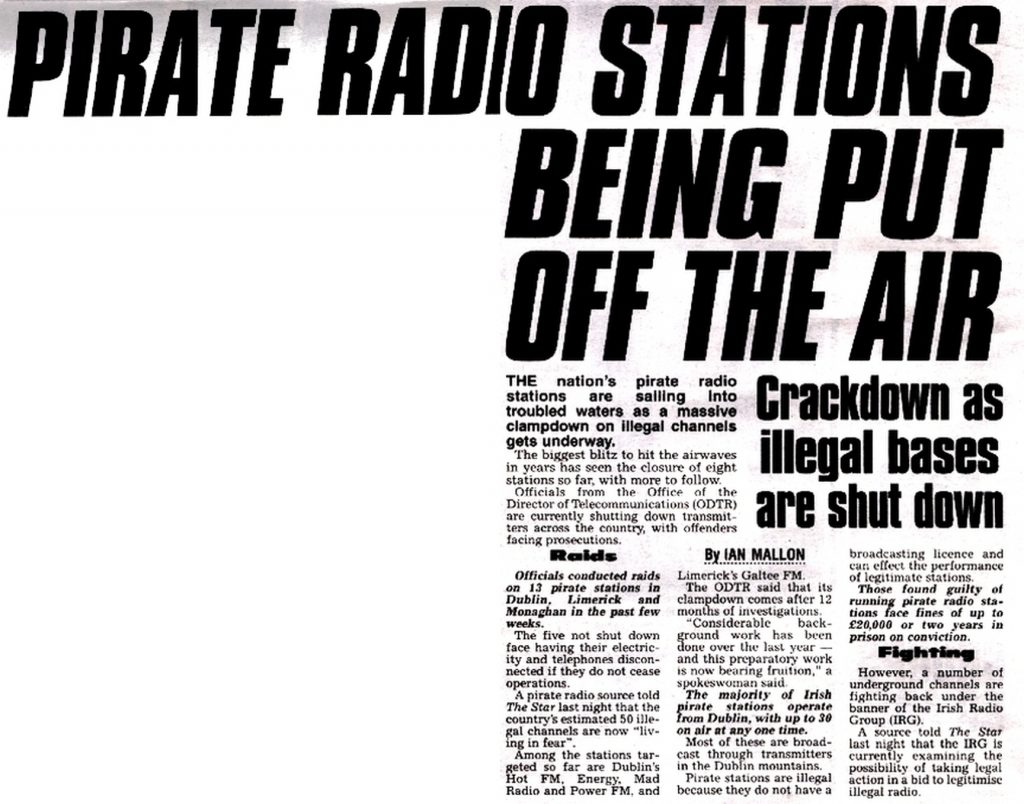 Pirate radio stations being put off the air