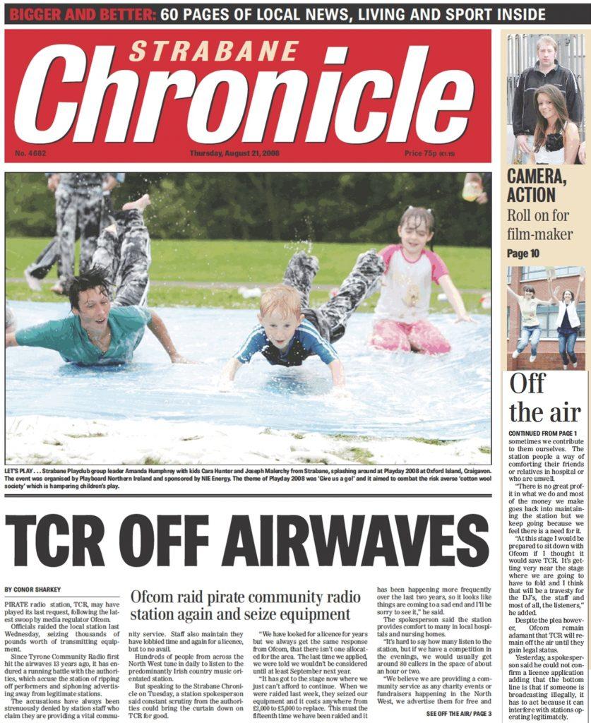 Strabane Chronicle TCR off airwaves