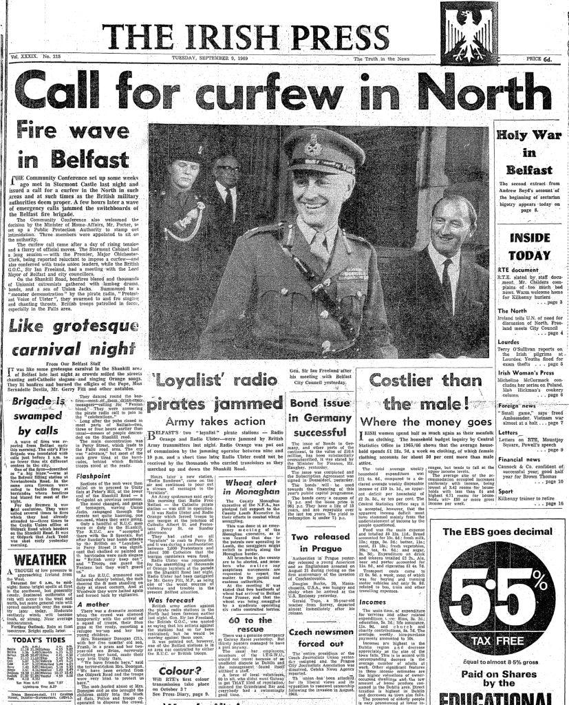 Radio Ulster and Radio Orange jammed