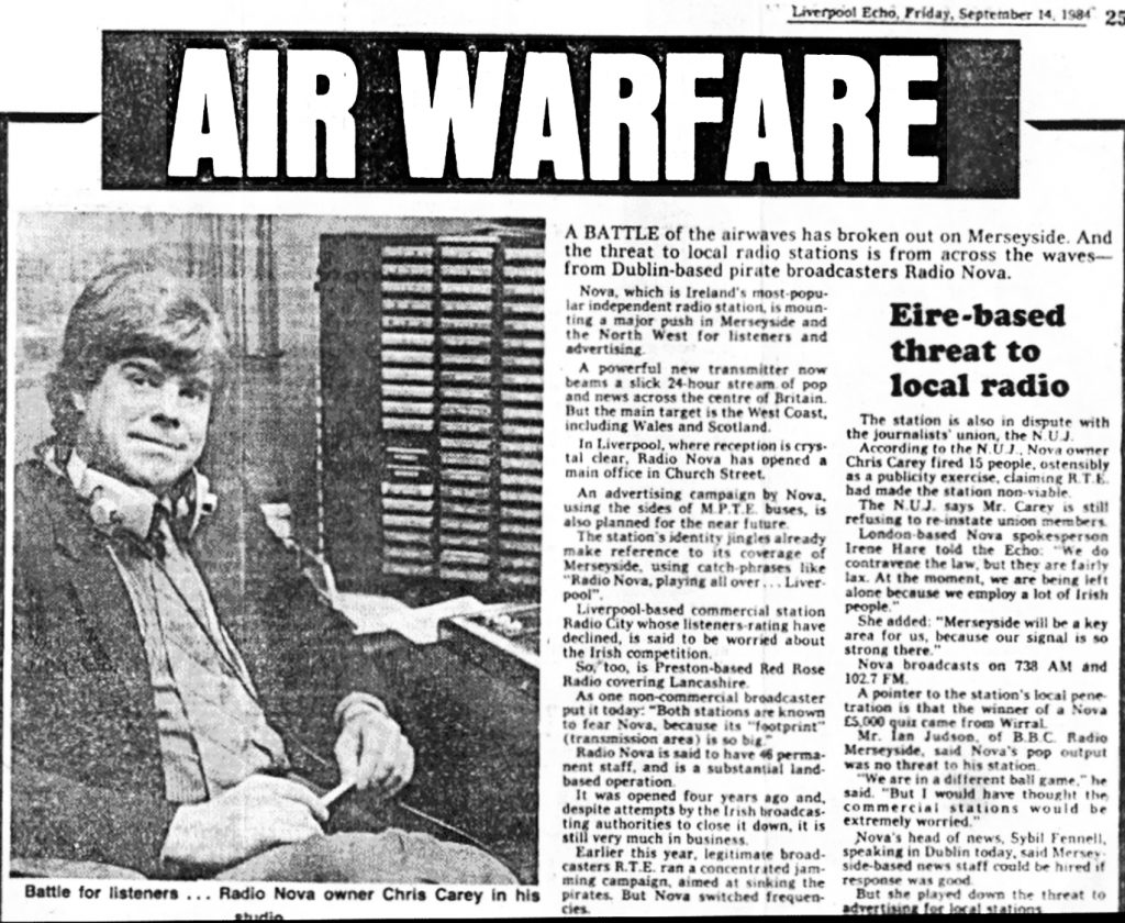 Air warfare was a newspaper headline from The Liverpool Echo dated September 14th 1984