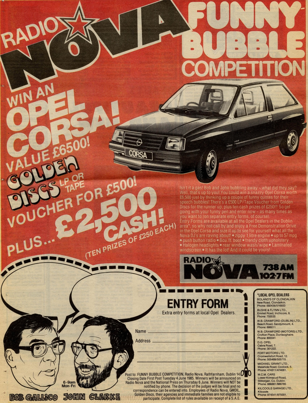 Radio Nova's Funny Bubble Competition