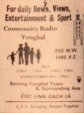 This is a recording of the Cork station Community Radio Youghal from August 18th 1981, which was made by a touring party from what is now the DX Archive website. Starting at 12.10pm, Eileen Connolly is on air and she's followed by 'Lunchtime with Seán Healey' at 12.30pm.