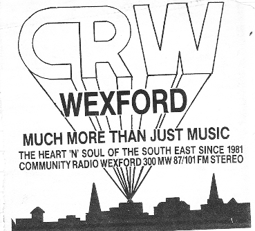 This is a recording of Community Radio Wexford (CRW) from Saturday, November 5th 1988.  Starting at 11.40am, station manager John O'Connor is on air.  The news is read by Barry Stone.  Ann-Marie Dempsey, John O'Connor and John Dier can be heard on ads.