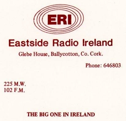 From October 1982 this is a recording of Eric Vaughan on the breakfast slot from 7.51am on Eastside Radio Ireland, the Cork pirate.